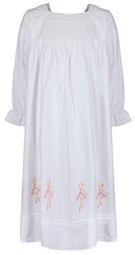The 1 for U 100% Baumwolle Mädchen Nachthemd Ballerina Nachthemd 4-12 Jahre Sophie