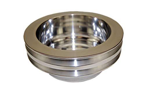 Pirate Mfg SBC Chevy 283-350 Machined Aluminum LWP Double Groove Crankshaft ()