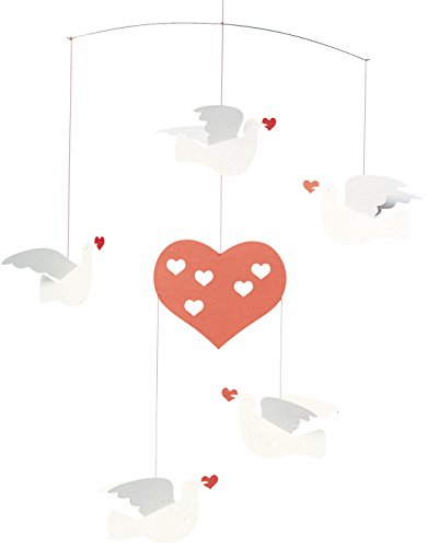 Flensted Mobiles Peace & Love Hanging Mobile - 14 Inches Cardboard -