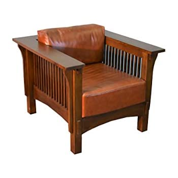 Awesome Crafters U0026 Weavers Mission Crofter Style Oak And Leather Arm Chair / Craftsman  Sofa Chair
