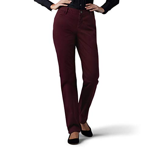 LEE Women's Relaxed Fit All Day Straight Leg Pant, raisin, 18