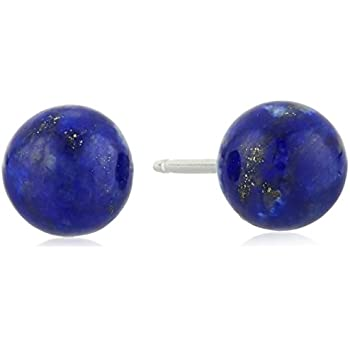 lapis lazuli lighter silver square bubble e earrings stud a