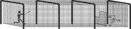 Installation Hardware for the Batting Tunnel (Batting Tunnel Frame)