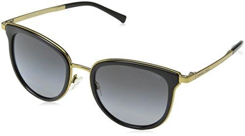 (Michael Kors Men,Women MK1010 54 ADRIANNA I Black/Grey Sunglasses 54mm)