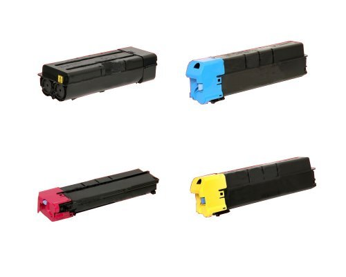Price comparison product image Kyocera Mita Part# TK-8707K. TK-8707C. TK-8707M. TK-8707Y Toner Cartridge Set (OEM) by Kyocera
