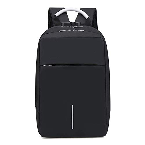 Walmeck Multifunction Oxford Laptop Backpack Anti-Theft Large Capacity Backpack Schoolbag with Lock & External USB Charging Port