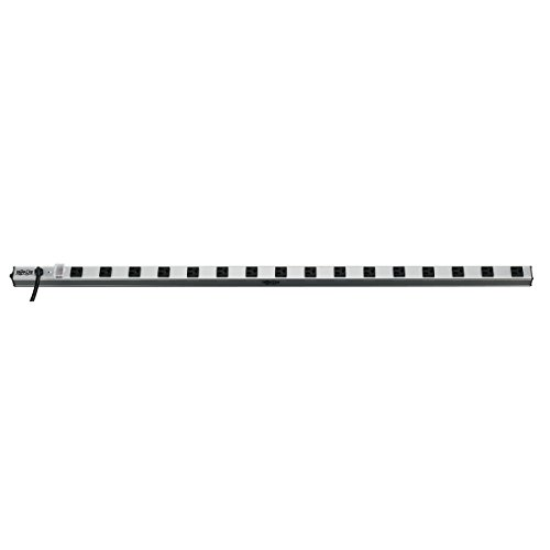 Tripp Lite 4 Outlet Bench & Cabinet Power Strip, 12 in. Length, 6ft Cord with 5-15P Plug (PS120406)