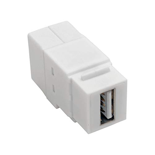 000 Usb Lite Tripp (Tripp Lite U060-000-KP-WH USB 2.0 Panel Mount Coupler Keystone Jack White F/F All-in-One)