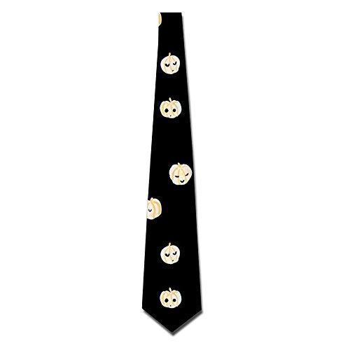 Halloween Pumpkin Pattern Men's Polyester Silk Wide Ties Printed Necktie Party Accessory (Town Hall 8 Halloween)