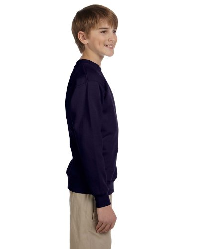 Hanes boys Youth ComfortBlend EcoSmart Crewneck Sweatshirt(P360)-Navy-S (Comfortblend Sweatshirt Crewneck Youth)