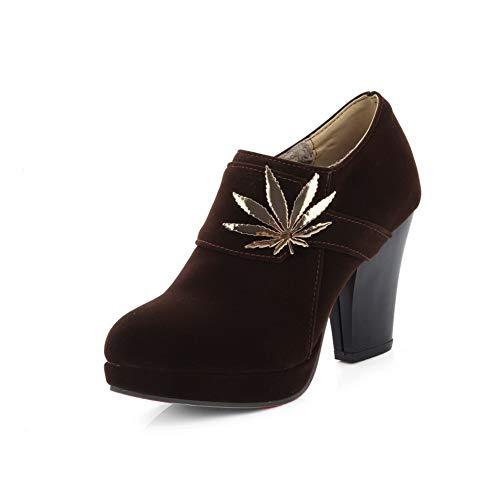 Womens Charms Pumps Shoes APL10816 Urethane BalaMasa Structured Platform Brown 1qdtWRw