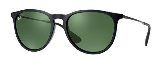 Ray Ban Erika Sunglasses Solid Black G15 Polarized ()