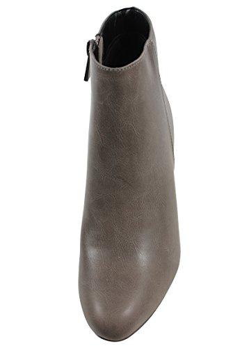 Tobillera Clásica Para Mujer Western Almond Toe Chunky Heel, Marrón Claro, 8.5 M De Carbón De Ee. Uu.