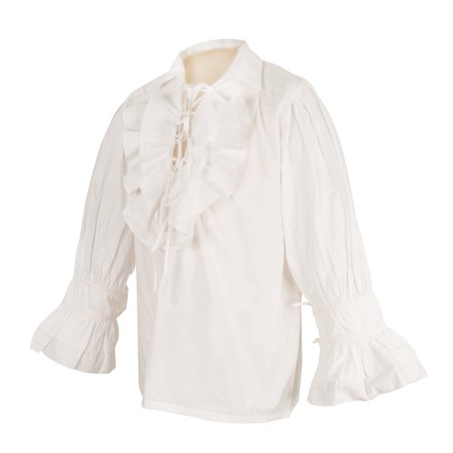 [Tortuga Pirate Shirt - White (L/XL) - Pirate Halloween or Renaissance Costume] (Jack White Halloween Costume)