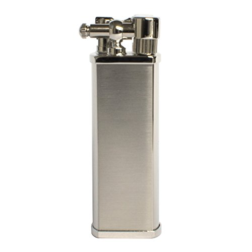 Tsubota Pearl Bolbo Japanese Premium Pipe Lighter Silver Satin Finish