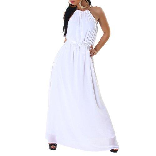 JELA London - Vestido - corte imperio - Sin mangas - para mujer blanco