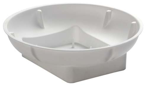 Floral Arrangement - Single Design Bowls for Oasis Floral Foam (6'' White)