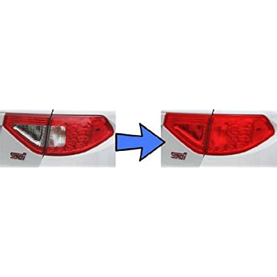 iJDMTOY 12 by 48 inches Self Adhesive Hot Red Taillights Tail Lamps, Fog Lights, Sidemarkers Vinyl Wrap Overlay Film: Automotive
