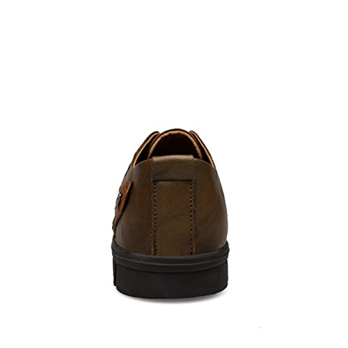 da Casuale cachi Loafers comode Liscia Stringate Scarpe Insun Mocassini Uomo O5FaqxPw
