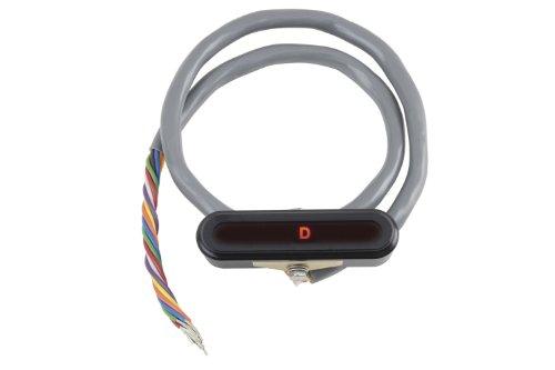 Lokar XCIND-1700 Black Aluminum LED Horizontal Dash Indicator ()