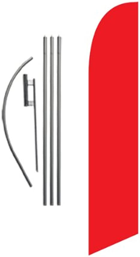 Flutter-Style Feather Flag Bundle 14/' OR Replacement Flag Onl ROASTED CORN Red