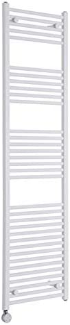 Chrome Electric Designer Heated Towel Rail Milano Ribble 800 x 500mm Curved Ladder Style Radiator