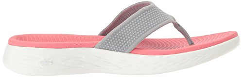The 15300 Gray Skechers On Pink Go Flop Flip 600 Women's 7wW5qH