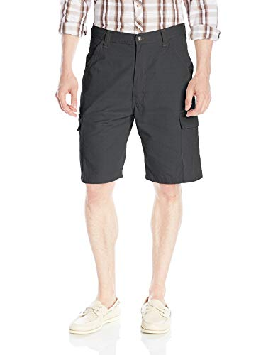 (Wrangler Authentics Men's Classic Relaxed Fit Cargo Short, Anthracite Ripstop, 40)