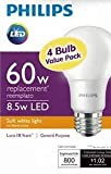 Philips New 60 Watt Equivalent A19 LED Light Bulb Soft White (Small Image)