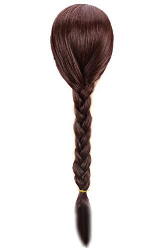 FWHWJ Long Brown Braid Wig Cosplay Costume Womens Plait Ponytail ()