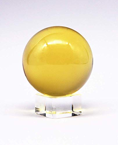 Cafurty Natural Citrine Calcite Crystal Sphere Ball Healing Gemstone ()