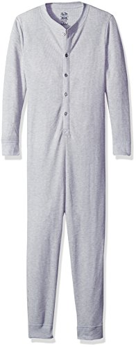 Fruit of the Loom Boys' Big Boys' Union Suit, Light Grey Heather, Small (8)
