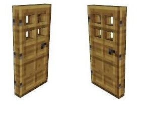 Minecraft Wooden Door 2pk. Paper Craft  sc 1 st  Amazon.com : mincraft door - pezcame.com