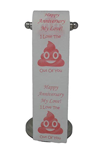 Happy Anniversary Toilet Paper, Funny, Gag Gift! (Happy Anniversary Toilet Paper)