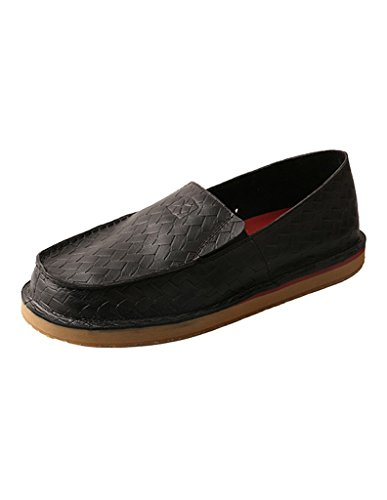Mens Black Casual Loafers Black Twisted X OqXwHq5