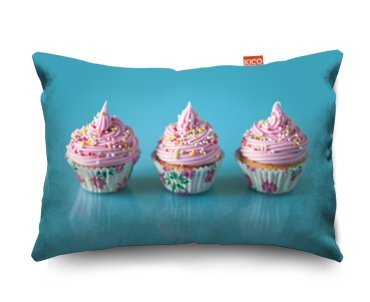 Pink Cupcakes Sofa Cushion Cojín para Sofá - (28x23cm) Small ...