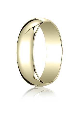 Mens 14K Yellow Gold, 6.0mm Traditional Dome Oval Ring (sz 12) by Aetonal