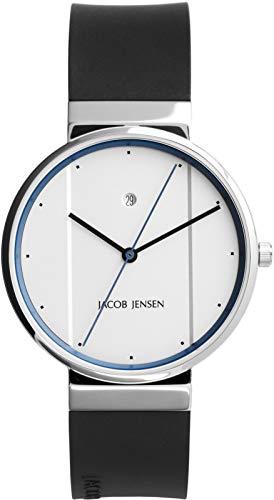a7877dba6fa7 Jacob Jensen New Line Quartz Analog White Dial Men s Watch 750
