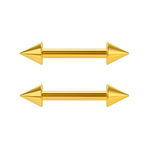 0 gauge horseshoe cone earrings - 9