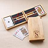Monogrammed - Personalized Wood Cribbage Game