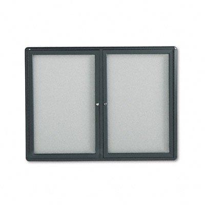 Quartet - Enclosed Bulletin Board, Fabric Covered