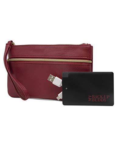 Mundi Back Up Buddy Womens Wallet Wristlet RFID Blocking With Portable External Phone Charger (Best Mundi Woman Wallets)