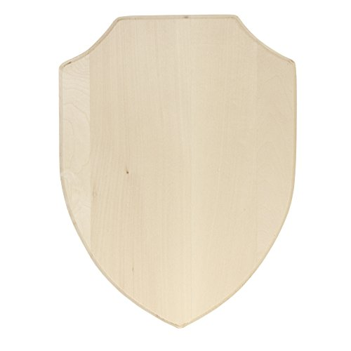 Walnut Hollow 41906 Basswood Simple Shield Style Plaque, -