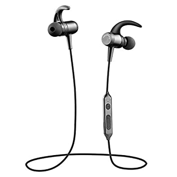 Auriculares Bluetooth Soundpeats Q24 interiores, inalámbricos, ligeros, sonido estéreo HD, con micrófono, a prueba de sudor, magnéticos, seguros para hacer ...