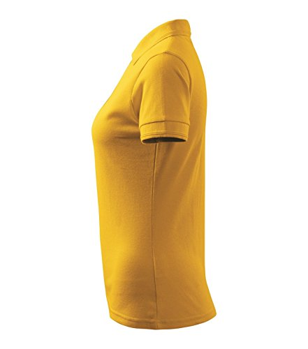 Polohemd Poloshirt für Damen Pique Polo 200 gelb Größe wählbar