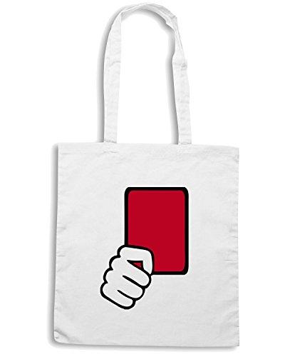 T-Shirtshock - Bolsa para la compra OLDENG00215 referee red card kids Blanco
