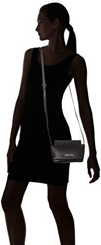 Calvin black Stitch Mujer Negro Flap Klein Bandolera Crossbody Bolsos FFRq8r