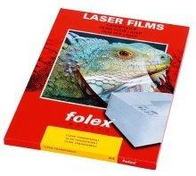 Farbdrucker- und Farbkopiererfolien weiß und klar - A4, 0,125 mm, klar transparent, 50 Folien Beidseitig beschichtete Folie, für Farblaserdrucker und Farbkopierer. Beste Planlage und thermische Stabilität auch bei Geräten, die bei höheren Temperaturen fixieren. Optimale Ergebnisse des Klarfilms auf dem OHP. Eignet sich außerdem optimal für Außenanwendungen. by Folex