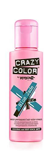 🥇 Crazy Color Blue Jade Nº 67 Crema Colorante del Cabello Semi-permanente