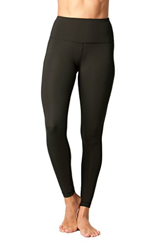 Yogalicious High Waist Ultra Soft Lightweight Leggings -  High Rise Yoga Pants - New Olive - Small - New Yoga Pants